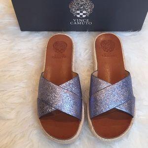 Vince Camuto Carran leather slides